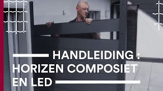 Video installatie Horizen Composite Glas Ledstrip - Betafence