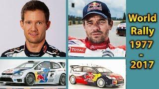 World Rally Championship Drivers' champions 1977 - 2017