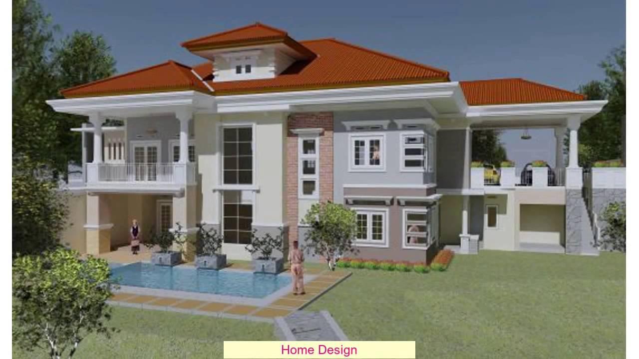 Desain Rumah Mewah 2 Lantai Dengan Kolam Renang YouTube