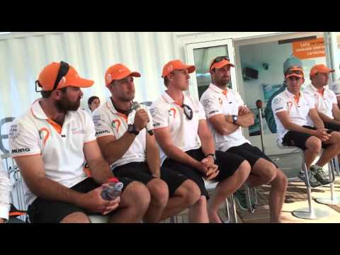 @team alvimedica Press Conference, Cape Town, Pre-Leg 2 of the Volvo Ocean Race
