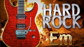 E Minor Old School Hard Rock Backing Track ☮