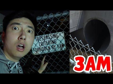 EXPLORING A HAUNTED TUNNEL AT 3:00 AM?! *WARNING*