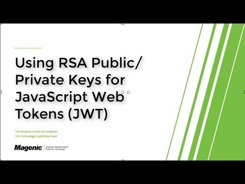 JWT using RSA Public/Private Key Pairs