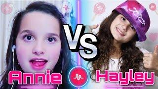 Annie LeBlanc (Bratayley) VS Hayley Bratayley Musical.ly Battle | Musically Gymnasts Compilation