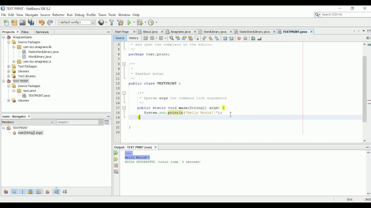 Text Print in Java using Netbeans IDE - Sinhala Tutorial