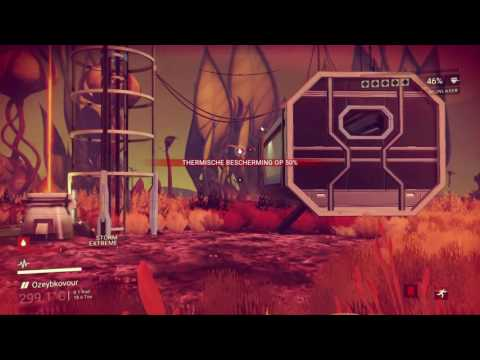 No Man's Sky - Mining Radnox on an extremely hot planet