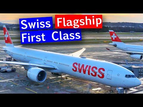 Swiss FIRST CLASS 777 From Zurich To Hong Kong