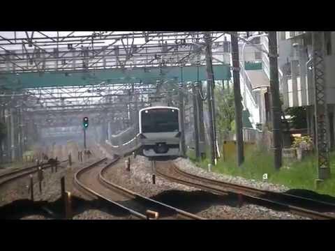常磐線快速 南柏を高速通過 Joban Line Rapid