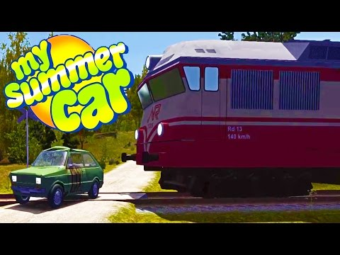 WE HIT HIM WITH THE TRAIN! New Building by the Inspection? - My Summer Car Gameplay Highlights Ep 52