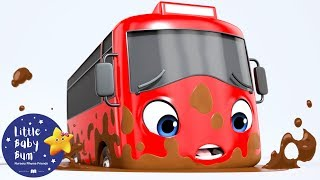 My Little Red Bus Stuck in The Mud | Go Buster | Baby Songs | Learn with Little Baby Bum
