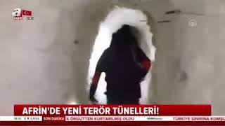 (Son Dakika) Afrin'de Yeni Terör Tünelleri Bulundu !