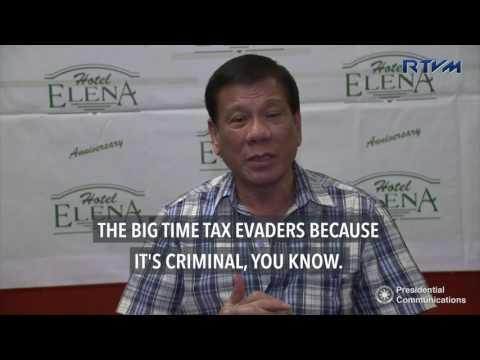Duterte to name big tax evaders next