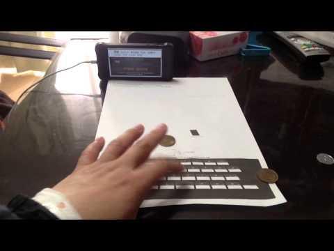 iOS App Paper Keyboard - Demo by tkviper.com