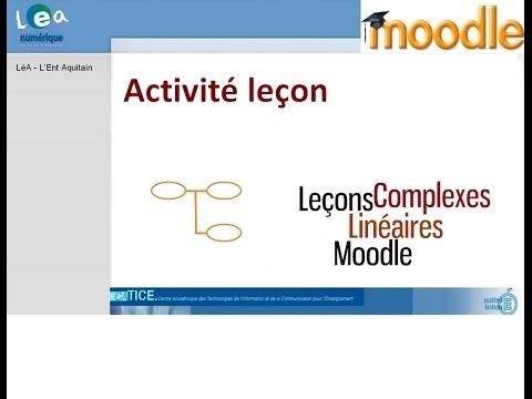 Moodle : Créer une leçon simple linéaire
