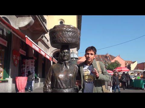 Zagreb Dolac Market and Tkalciceva Street. Croatia, Croacia