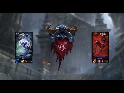 Showdown 1v1 Gameplay with Akali vs Zed - League of Legends ( LOL Showdown  Mode Gameplay)