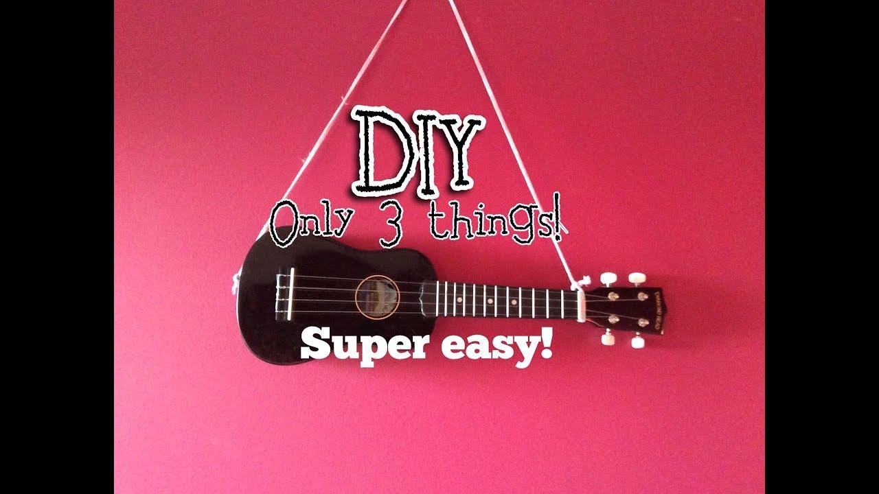 Diy easy ukulele strap youtube diy easy ukulele strap solutioingenieria Images