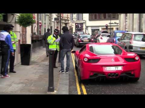 Police Stops Arab owned Ferrari 458 Italia
