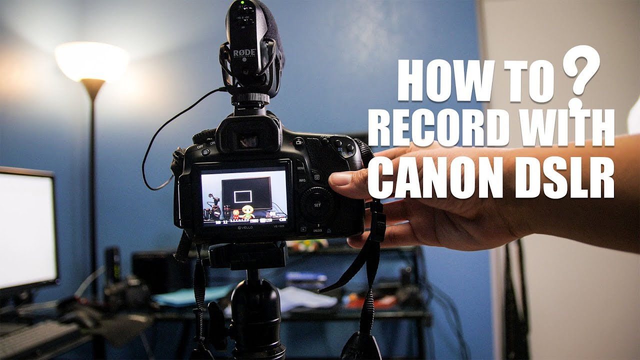 How to record video with Canon DSLR (60D)