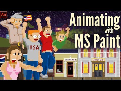 Patriotic Pixel Art Animation With MS Paint