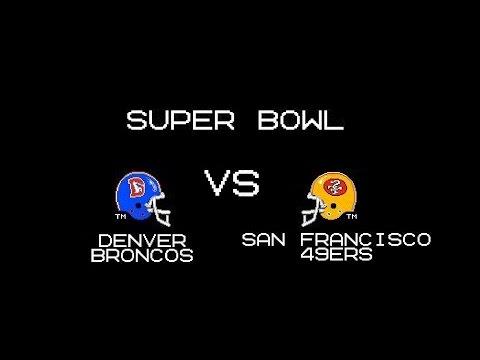 Tecmo Super Bowl - Broncos vs 49ers - 1991 Super Bowl
