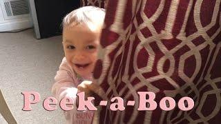 Baby playing Peek-a-Boo with curtain! Малыш играет в прятки! Ку-ку!!