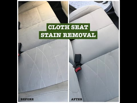 Car Upholstery Cleaning Before & After