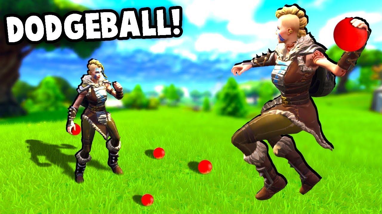 DODGEBALL IN Fortnite Battle Royale - Amazing Custom Game Mode!