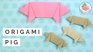 How to Make an Origami Pig Easy - How to Fold a Paper Pig Tutorial