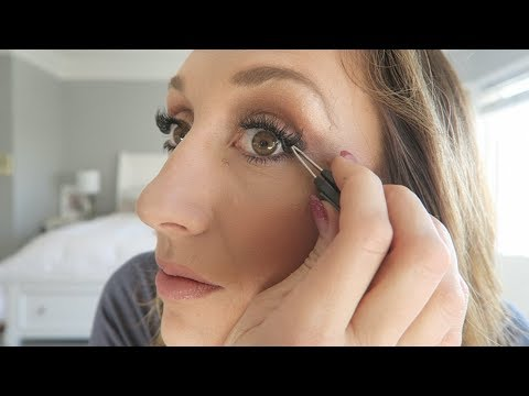 How to put on false lashes! + My FAVORITE cheap lashes!