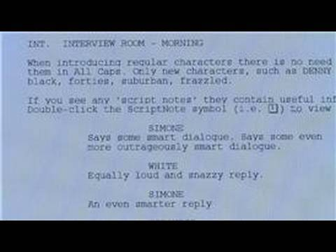 Script Writing & Filmmaking : How to Write a TV Script