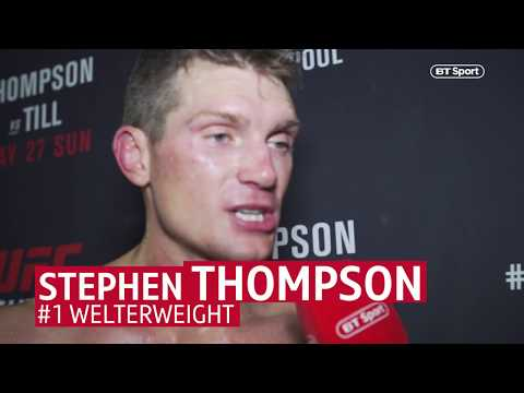 """Stephen """"Wonderboy"""" Thompson's Gracious Post-fight Interview After UFC Liverpool Is Superb"""