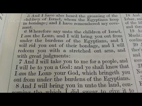 The Book of Exodus Chapter 6: A King James Verse-By-Verse Bible Study