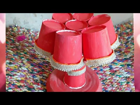 DIY HOW TO MAKE TABLE LAMP USING COFFEE CUPS ||APNA CRAFT