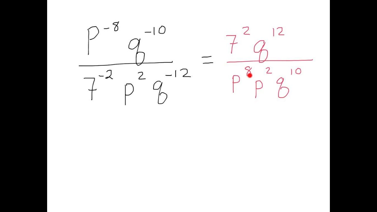 Multiplying And Dividing Monomials With Negative Exponents ...