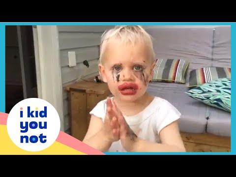 Hilarious Kid Makeup Fail Compilation   I Kid You Not