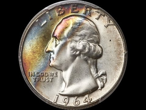 Check Your Silver Quarters - Common 1964 Washington Rainbow Toner Sells for $3500!