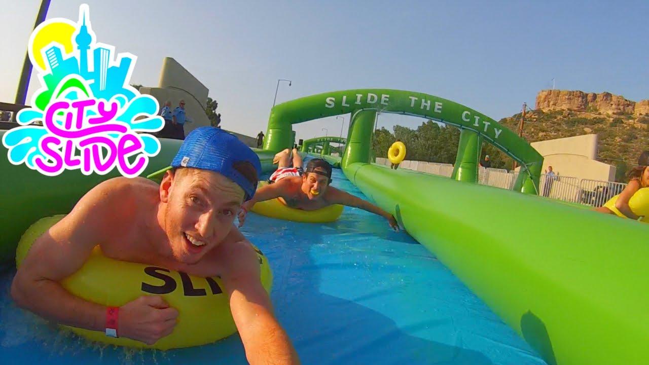 Biggest Water Slide Ever 1000 Feet Youtube