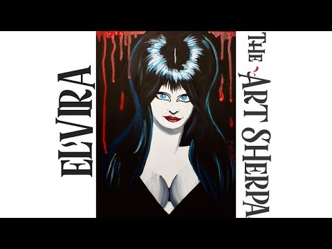 How to paint with Acrylic Elvira Easy Beginner tutorial