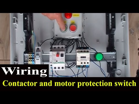 How to wire contactor and motor protection switch - Direct On Line Starter.