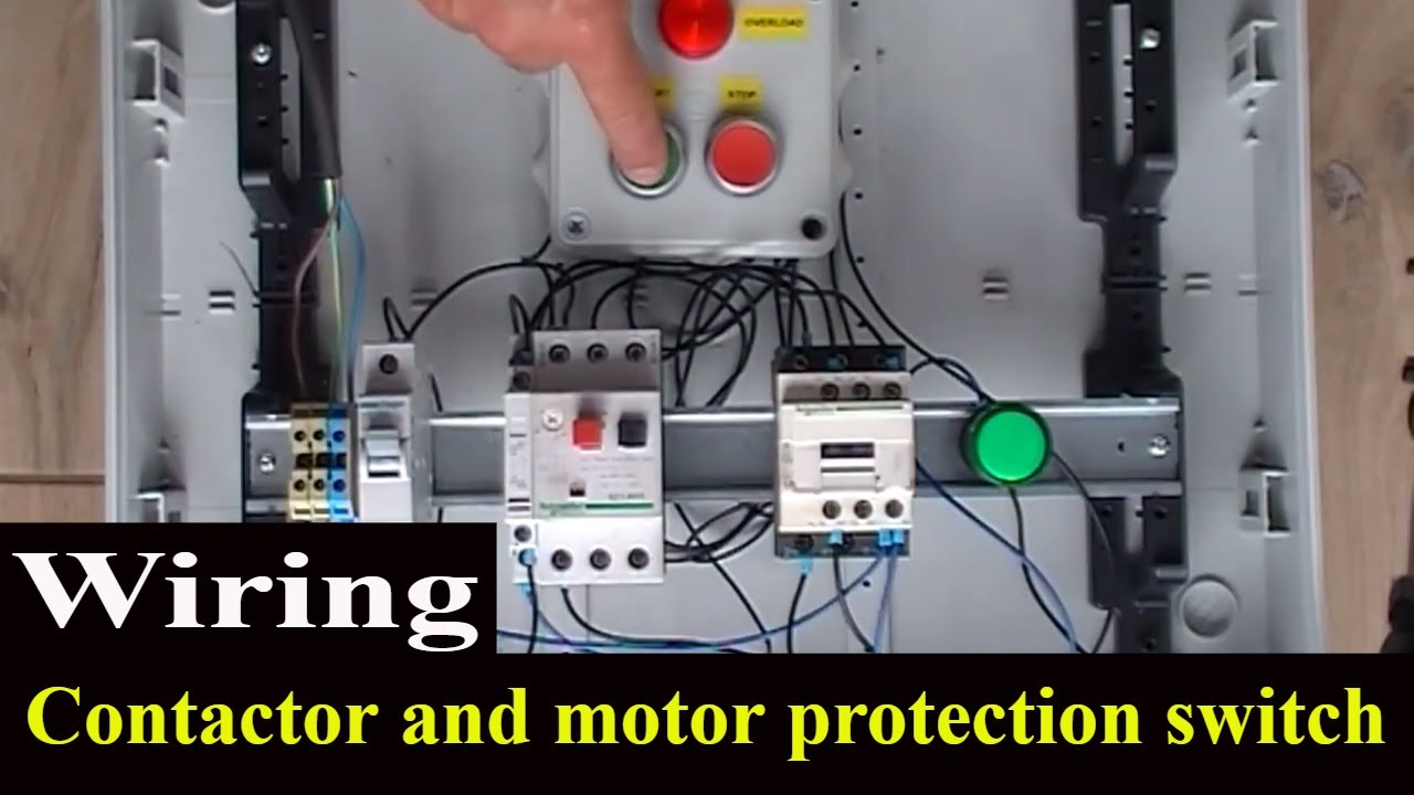 How to wire contactor and motor protection switch  Direct On Line Starter  YouTube