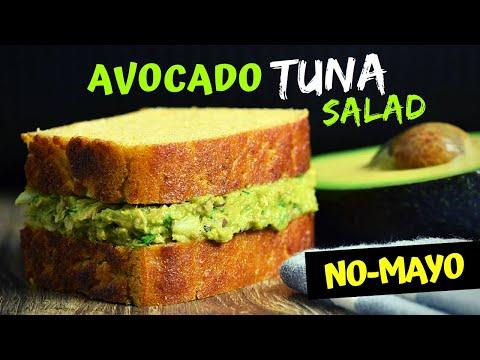 Healthy Avocado Tuna Salad (Making a No-Mayo Tuna Sandwich)