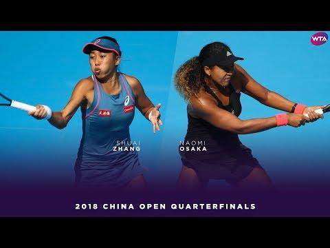 Zhang Shuai Vs. Naomi Osaka   2018 China Open Quarterfinals   WTA Highlights 中国网球公开赛