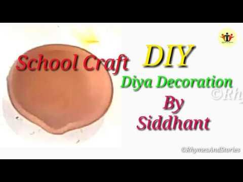 #SchoolCraft #DIY Diya Decoration By Siddhant Suman Primary   Pre-Primary