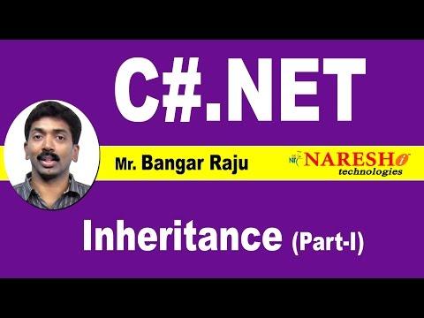 Inheritance - Part 1 | C#.NET Tutorial | Mr. Bangar Raju