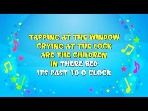 Wee Willie Winkie | Sing A Long | Nursery Rhyme | KiddieOK