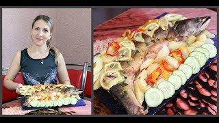 Запеченная рыба в духовке с овощами. Ну, оОчень вкусно!