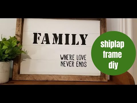Farmhouse Faux Shiplap Wood Stained Sign/Family Quote/Dollar Store DIY