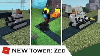 The NEW Zed Tower! (All Upgrades) | Tower Reviews | Tower Battles [ROBLOX]