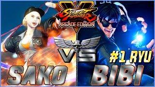SFV AE 🔥 SAKO (Lucia) VS. BIBI (#1 Ryu)  FIRST TO 3 🔥 NRSFV
